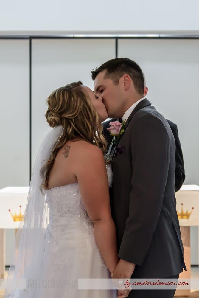 Halifax, Dartmouth, NS, Nova Scotia, wedding, photography, photographer, images, image, photo, photos, Juno tower, stadacona, bride, groom, church, ceremony, first kiss