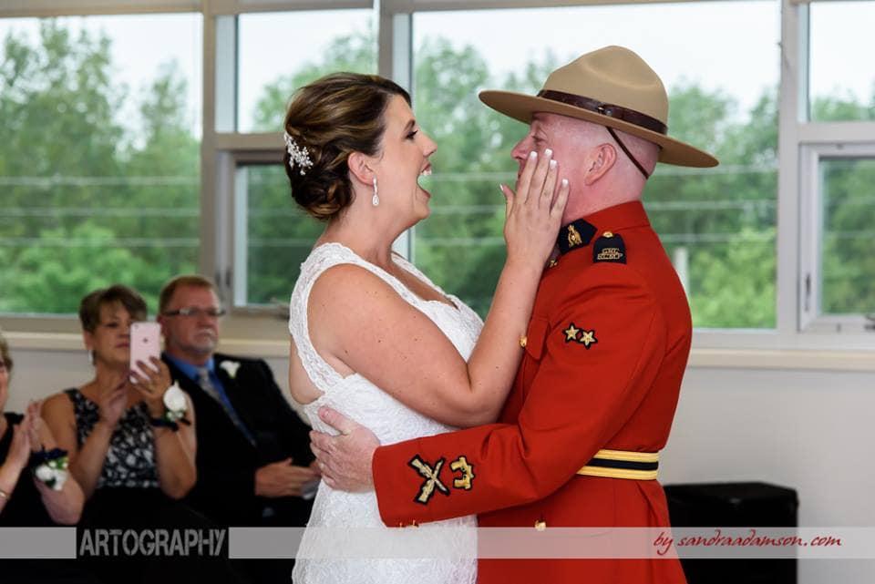 Halifax, Beaverbank, NS, Nova Scotia, wedding, photography, photographer, images, image, photo, photos, kinsac center, bride, groom, first look, rcmp regalia