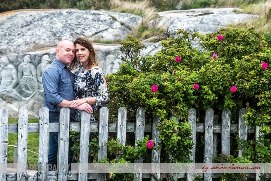 peggys cove, ns, nova scotia, engaged, engagement, photography, photographer, ocean, water, sea, rocks, ring, love, couple, roses, flowers, fence