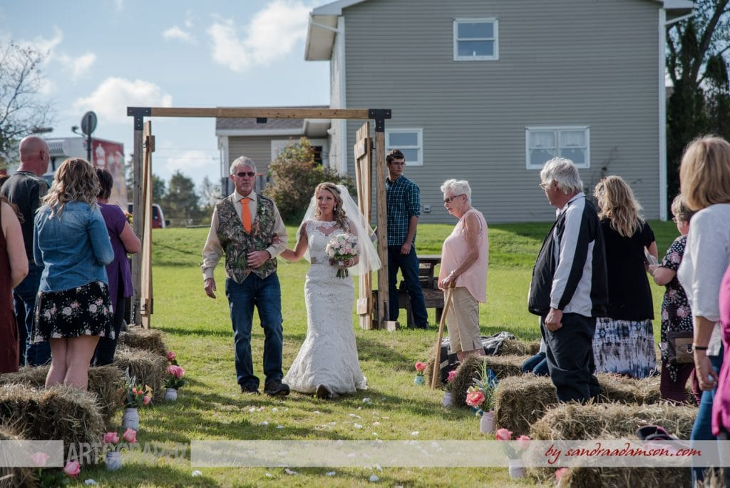 truro, salmon river, lower harmony, ns, nova scotia, wedding, photography, photographer, image, photo, bride, father of the bride, aisle, walking, ceremony
