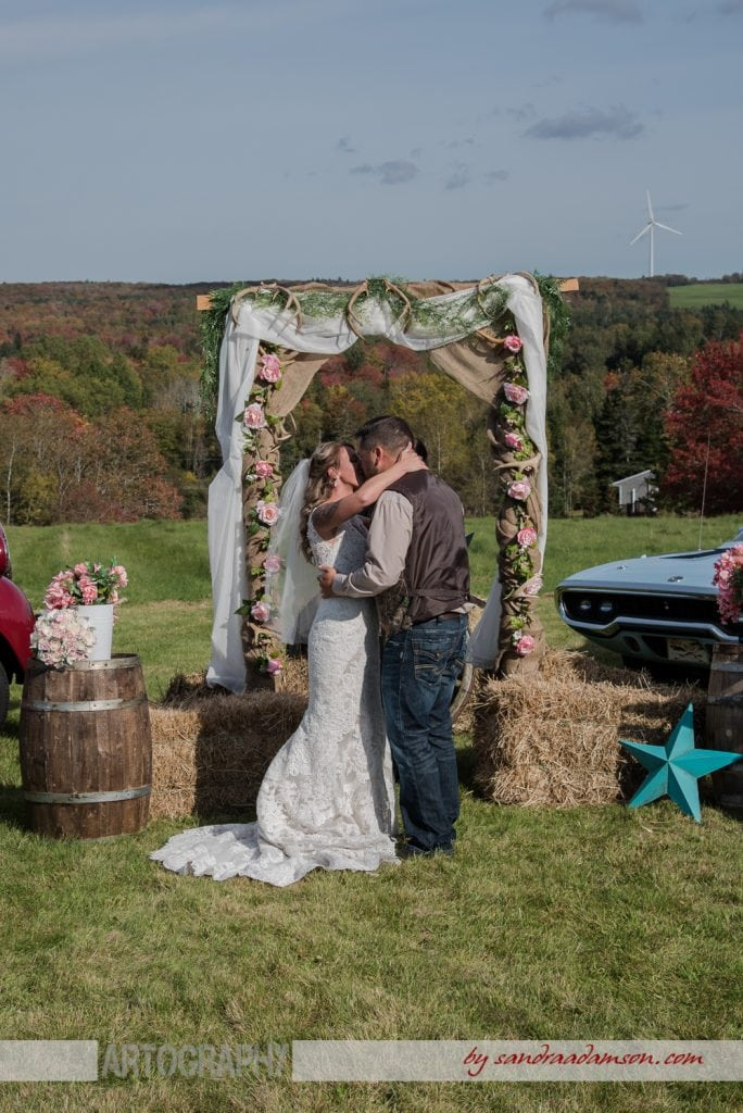 truro, salmon river, lower harmony, ns, nova scotia, wedding, photography, photographer, image, photo, bride, groom, ceremony, first kiss
