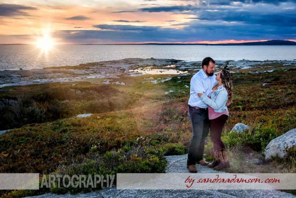 halifax, ns, nova scotia, peggy's cove, wedding, engagement, ring, rocks, fall, colors, ocean, sea, sunset