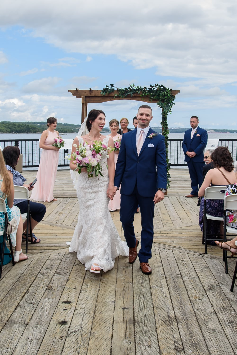 halifax ns wedding photographer, halifax wedding photographers, halifax engagement photographer, engaged, sandra adamson studios, dewolfe park, dewolfe park weddings, bride, groom, wedding ceremony, first kiss, first look, bridesmaids, groomsmen, wedding recessional