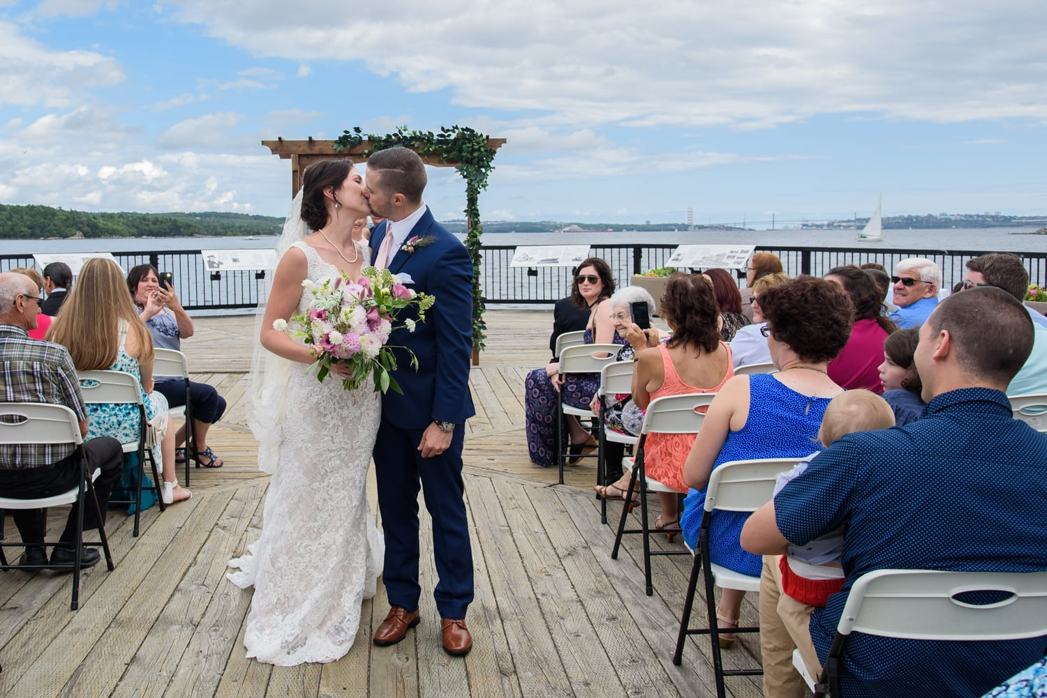 halifax ns wedding photographer, halifax wedding photographers, halifax engagement photographer, engaged, sandra adamson studios, dewolfe park, dewolfe park weddings, bride, groom, wedding ceremony, first kiss, first look, bridesmaids, groomsmen
