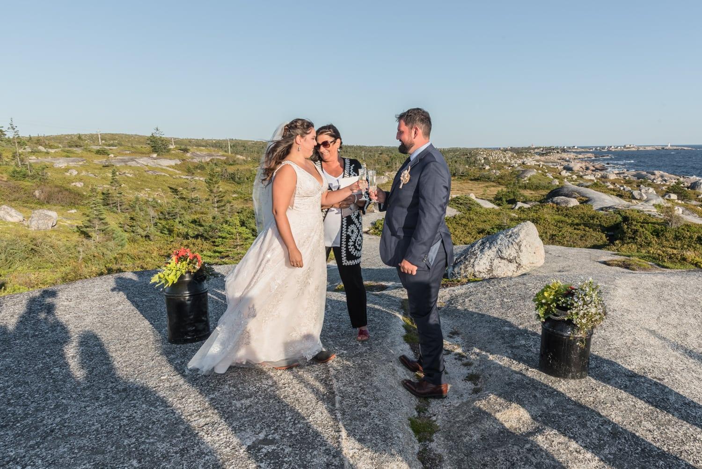swiss air monument, ocean wedding, bride, groom, wedding toast